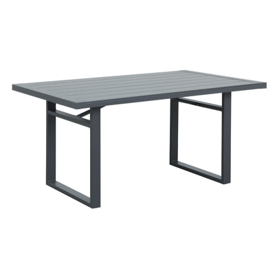 Coolum Low Dining Table - Charcoal