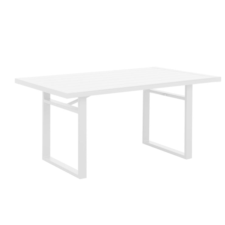 Coolum Low Dining Table - White