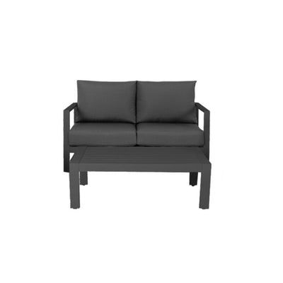 Coolum Two Seater Lounge - Charcoal