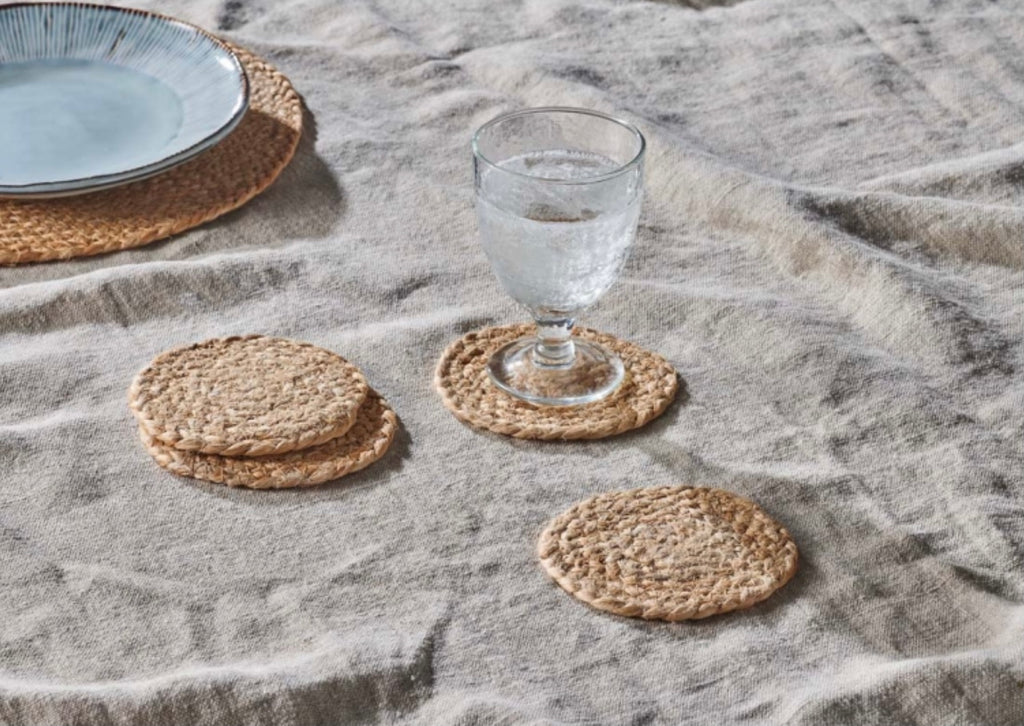 Natural Hemp Coasters Set of FOUR