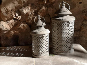 Antique Stone Grey Lanterns .......SMALL OR LARGE