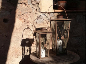 Antique Rust Lantern .......SMALL OR LARGE