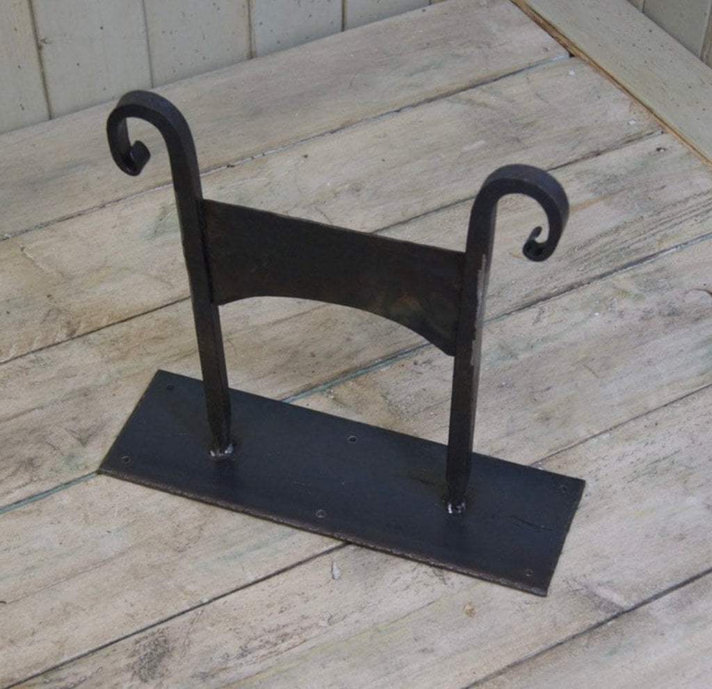 Hand Forged Boot Scraper with Mounting Plate