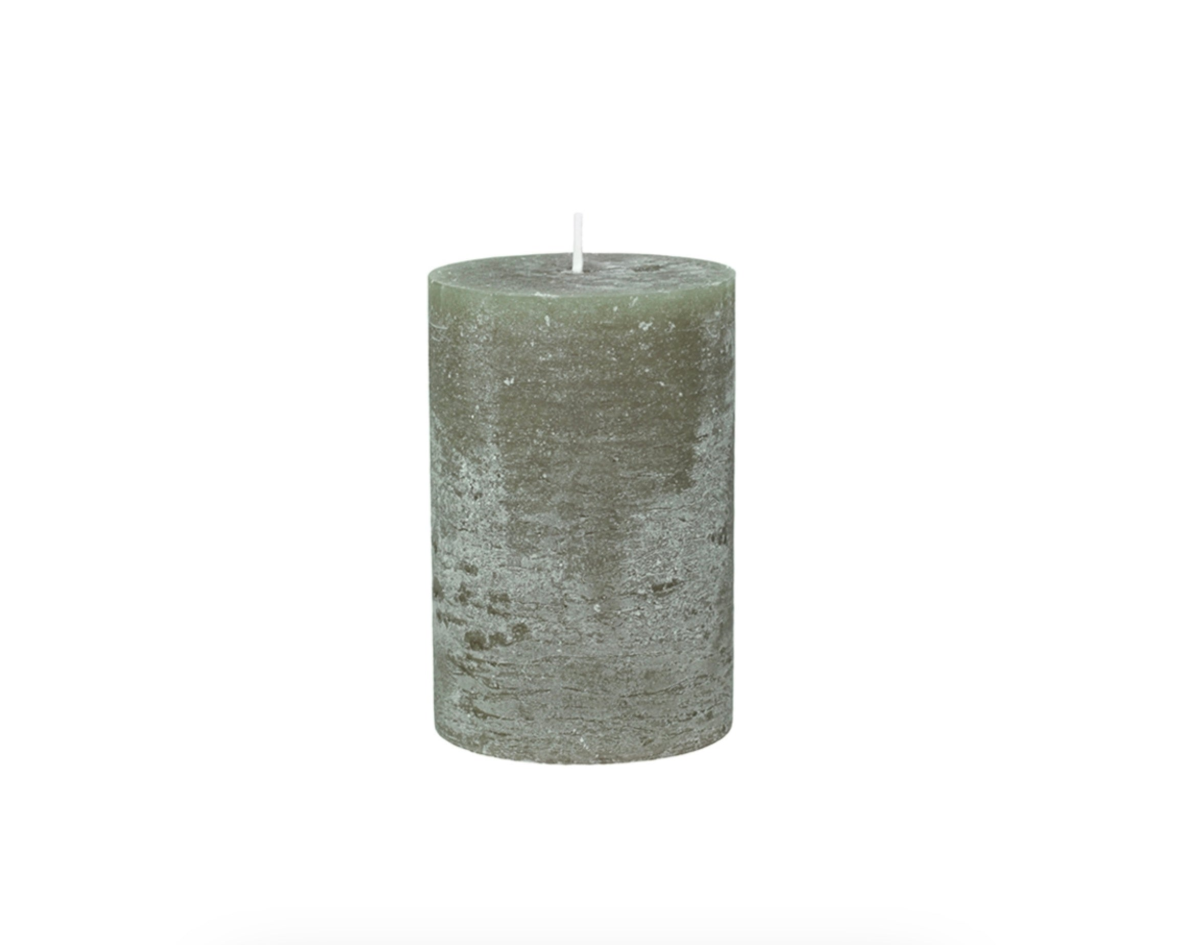 Olive Green Rustic Candles ....VARIOUS SIZES