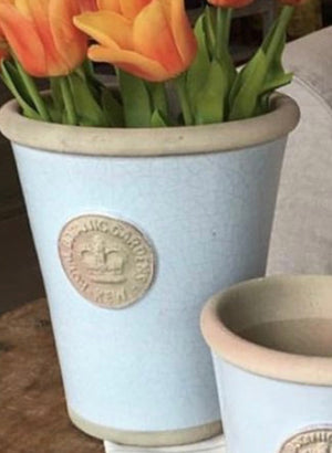 Kew Garden Long Tom Pots in DUCK EGG BLUE ......3 SIZES