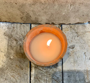 Aged Terracotta Pot Candle