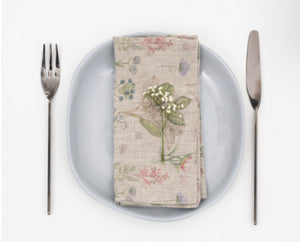 Linen Napkins SET of 2 in 4 Designs