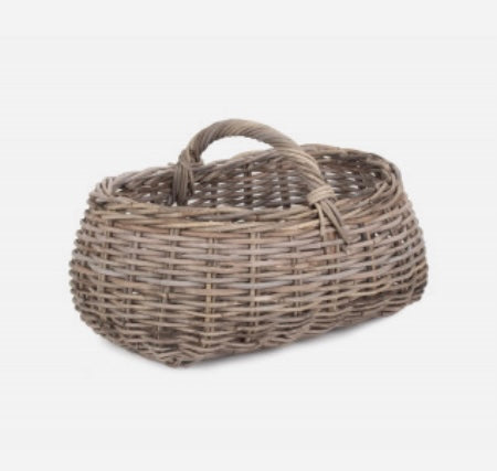 Grey Rattan Market Basket