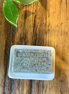 Rosemary (Romarin Broye) Exfoliating French Soap with organic Shea Butter 125g