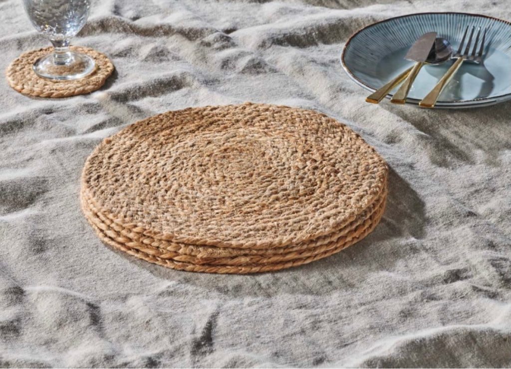 Natural Hemp Table Mats Set of FOUR