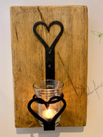Handmade Candle Holder in Black Beeswax