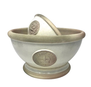 Kew Glazed IVORY Footed Bowl in TWO SIZES