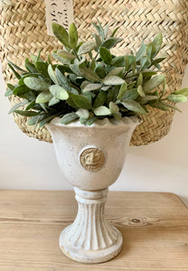 Kew Garden Footed Urn in Old White