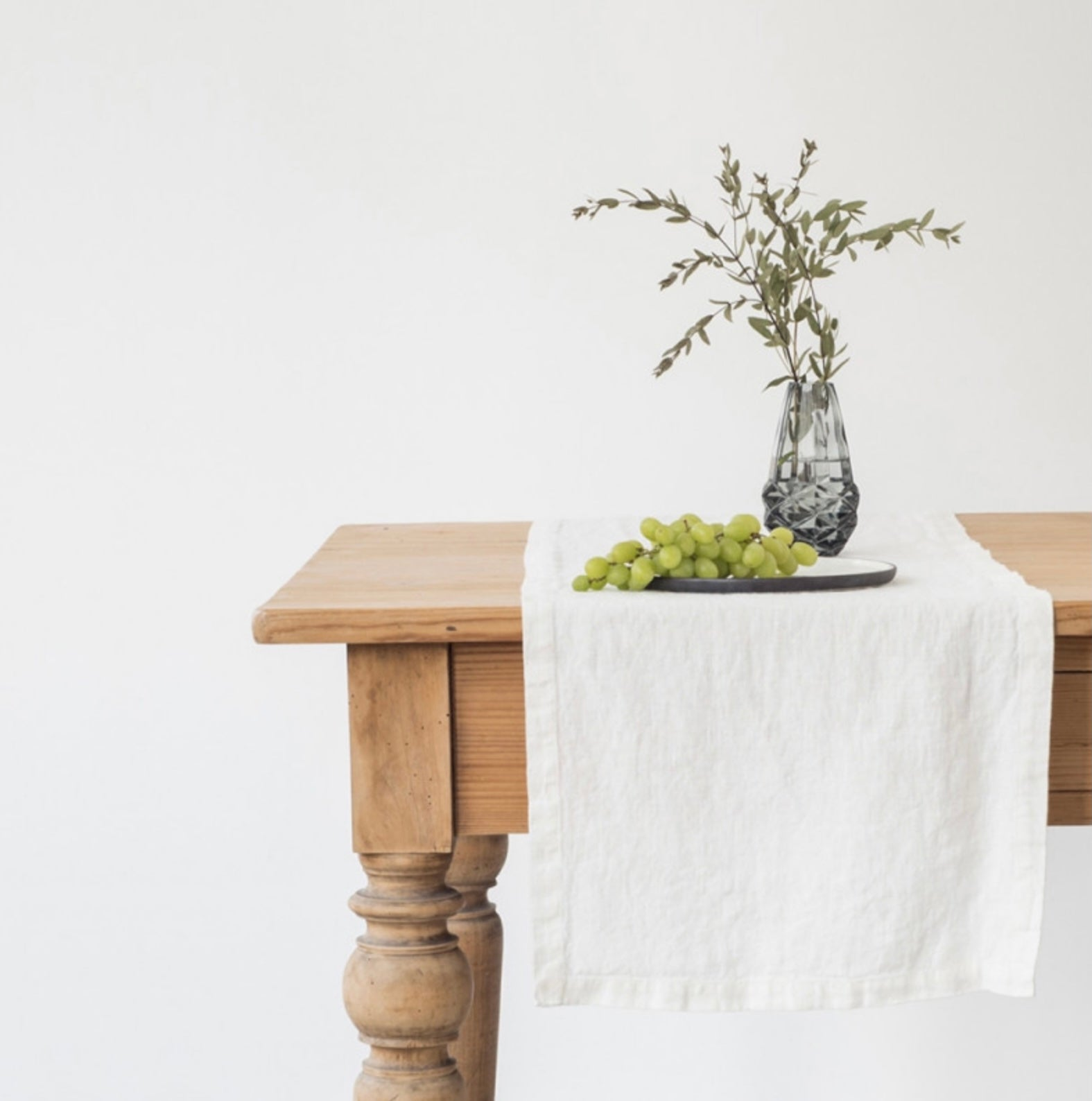 White Linen Table Runner 2 SIZES