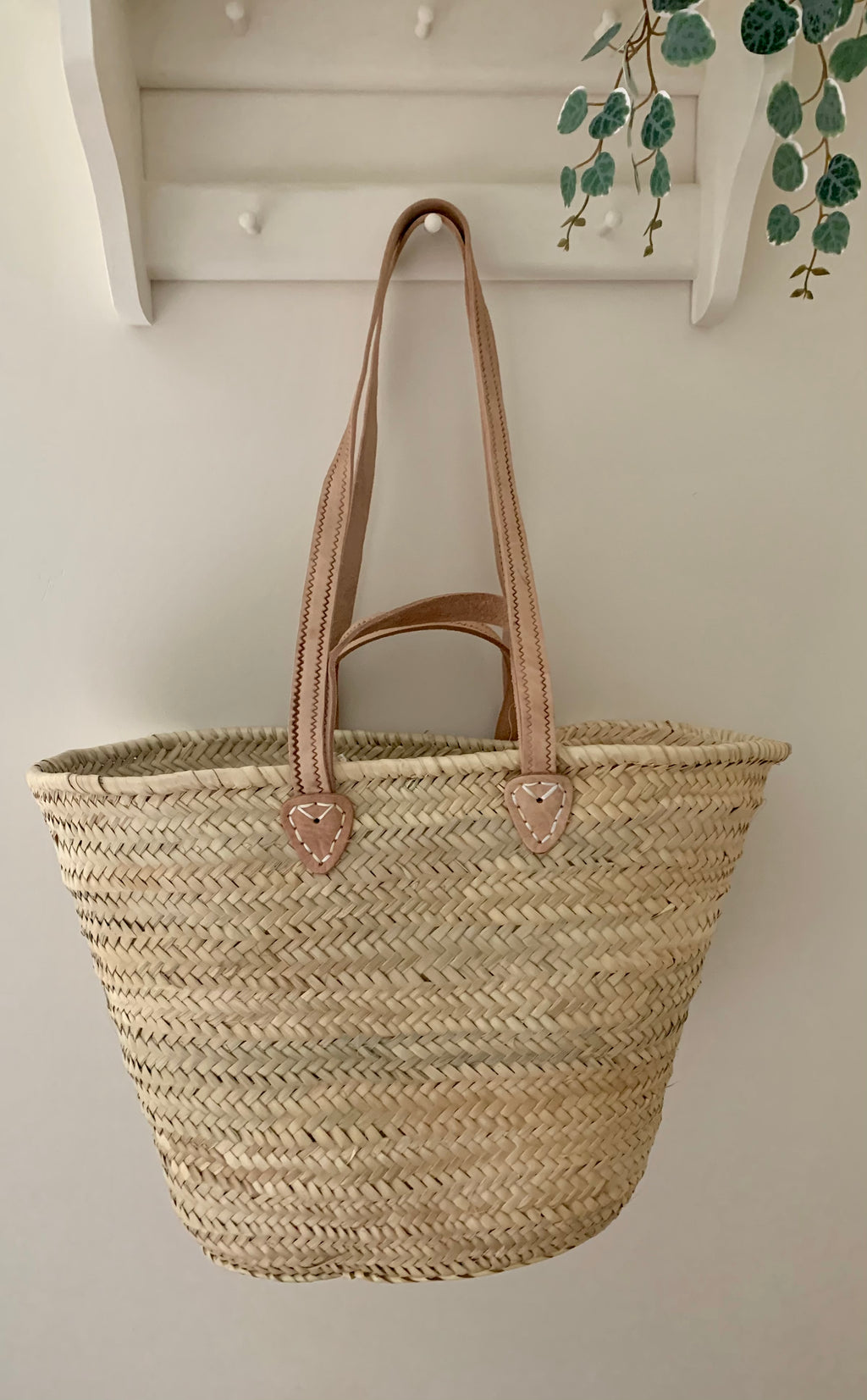 French Market Basket with Double Handles