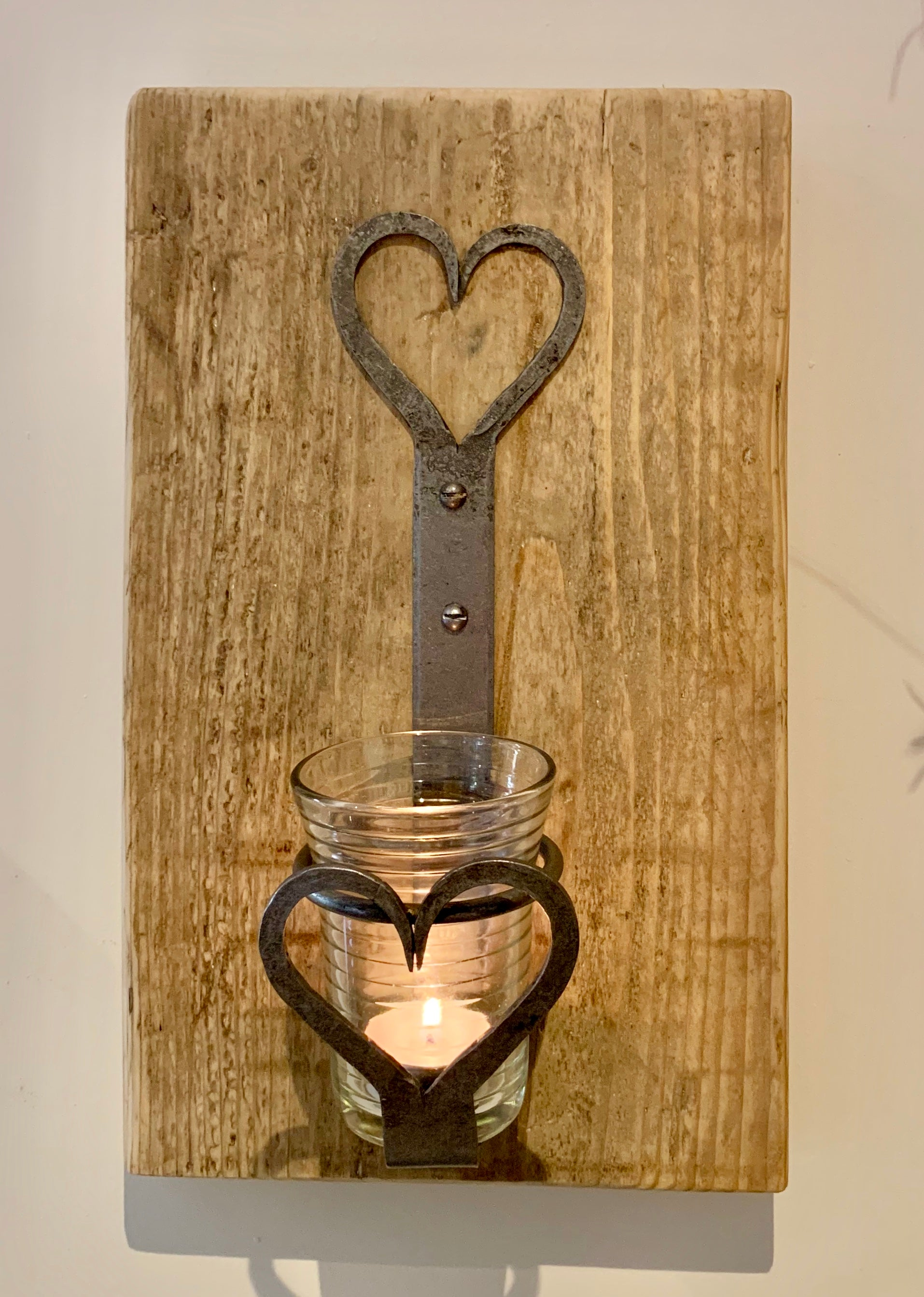 Handmade Antique Iron Wall Candle Holder