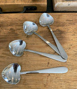 Heart shaped teaspoons X 4