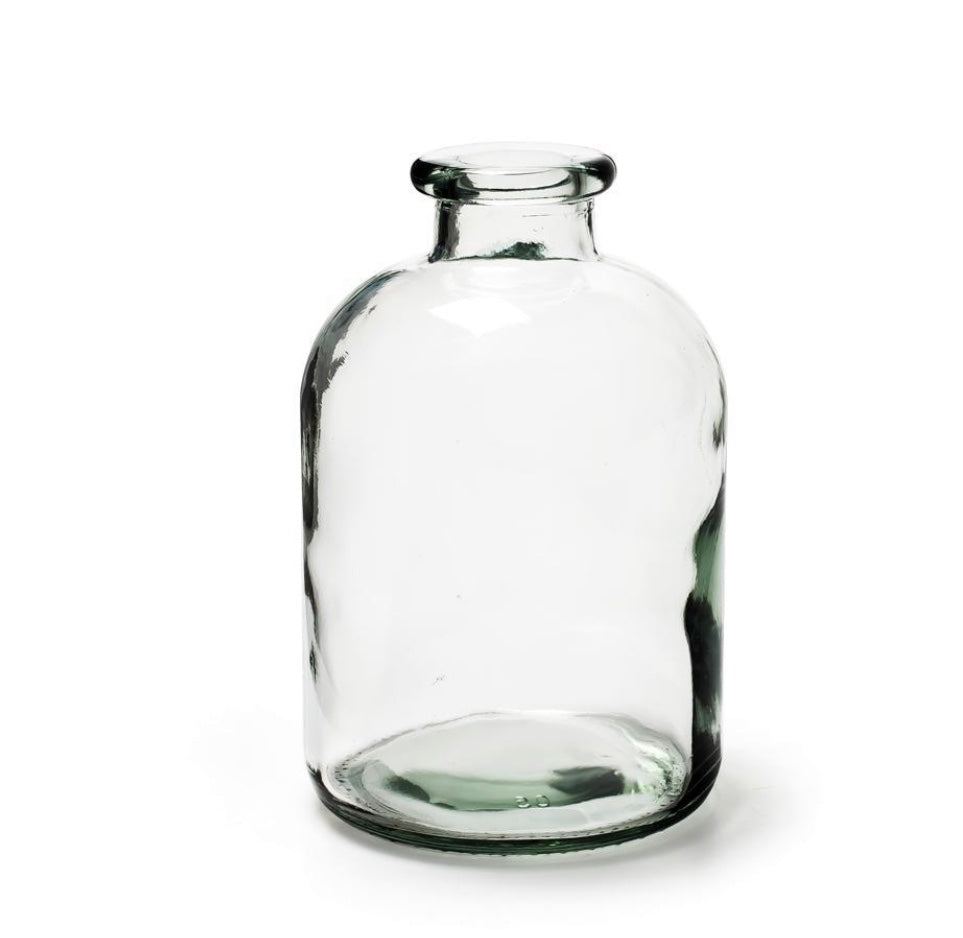 Bottle Vase from Recycled Glass.......SMALL & LARGE