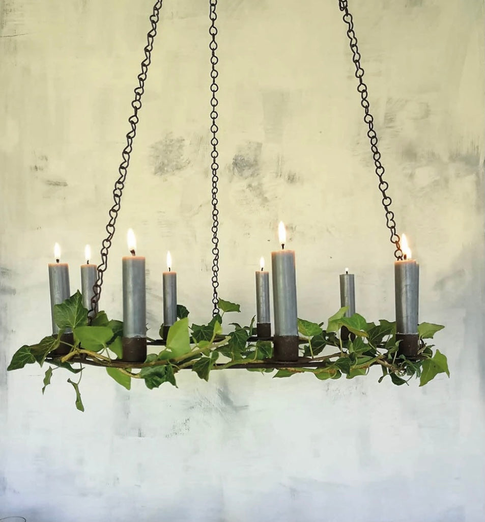 Simple Rust Metal Chandelier