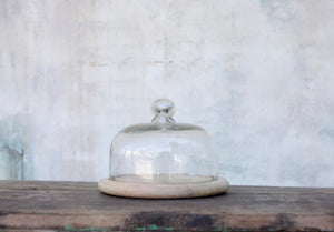 Clear Glass Bell  Dome RECYCLED GLASS