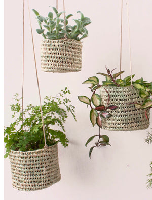 Open Weave Hanging Basket in SMALL or LARGE