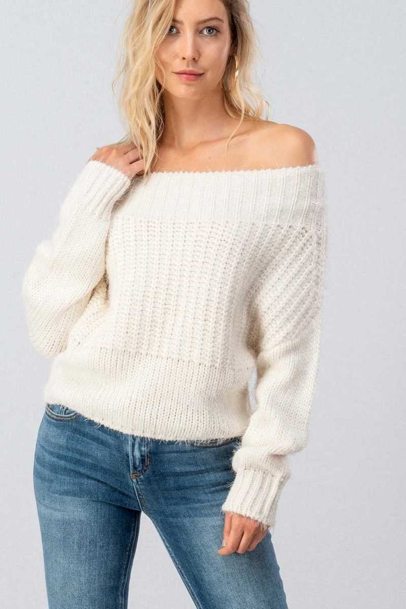 Lizzy Off Shoulder Sweater