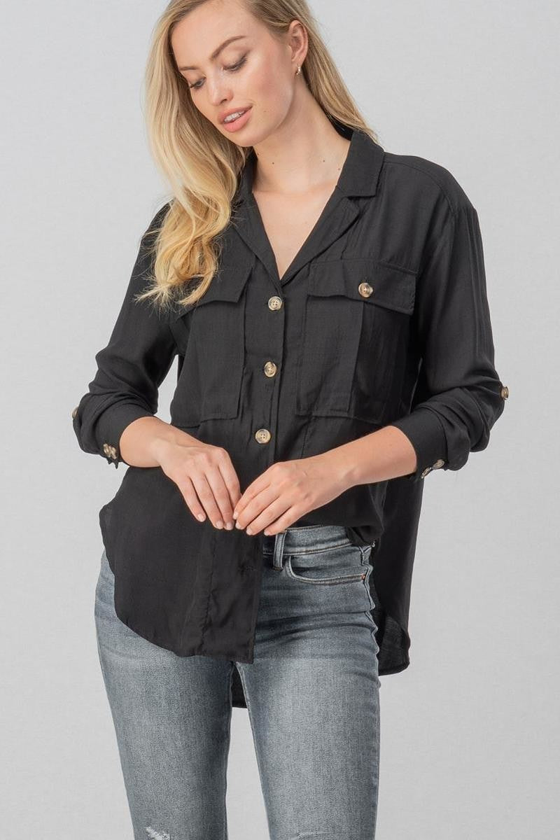 Aura Button Down Top