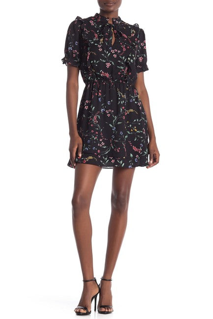 Cupcakes & Cashmere Karolina Black Floral Dress
