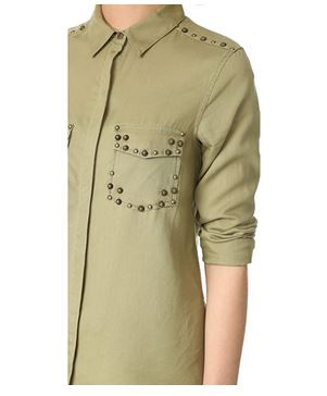 Scotch & Soda Maison Scotch Tencel Shirt with Stud Details
