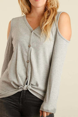 Emma Cutout Shoulder Top