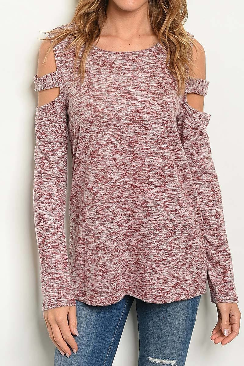 Isabelle Cutout Shoulder Top