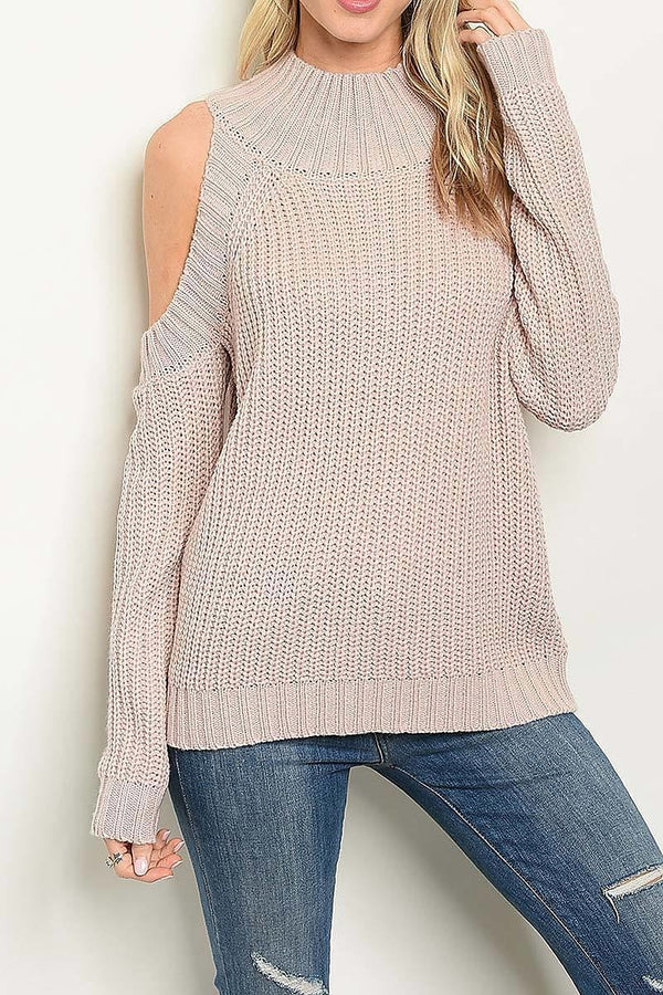 Maria Cutout Shoulder Knit Sweater