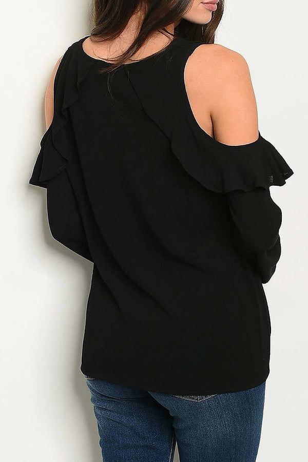 Ashley Cutout Shoulder Top
