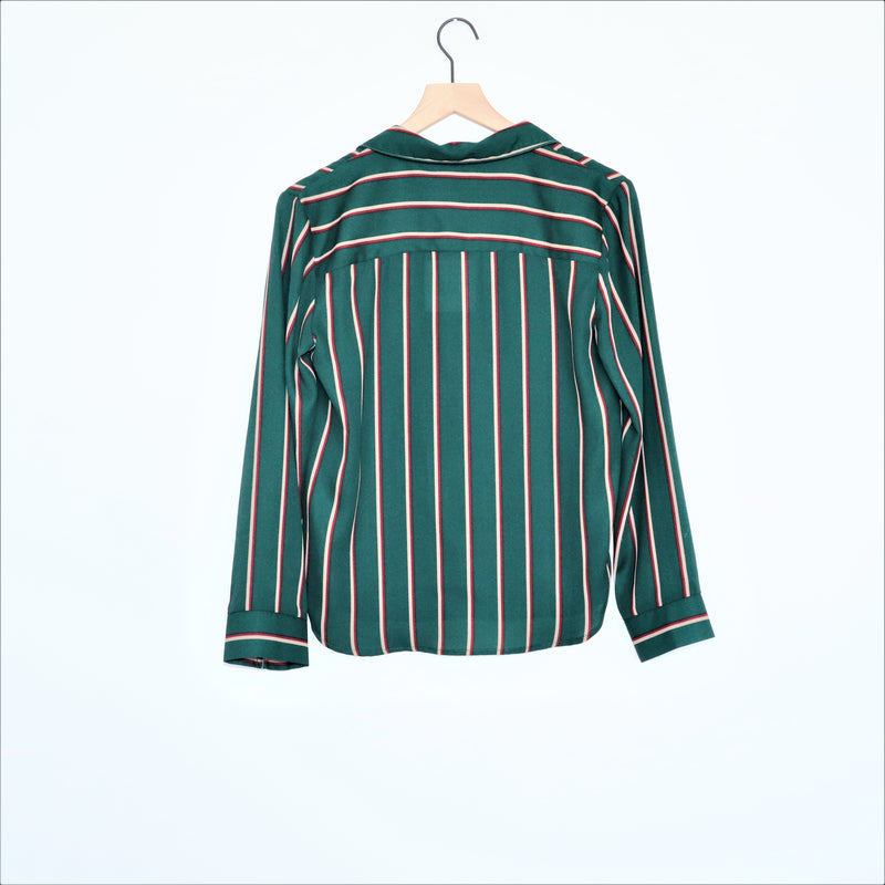 Jack by BB DAKOTA Green Striped Button Down Top