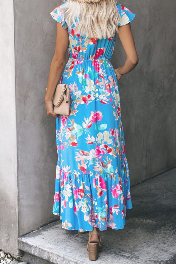 Island Fever Blue Floral Dress