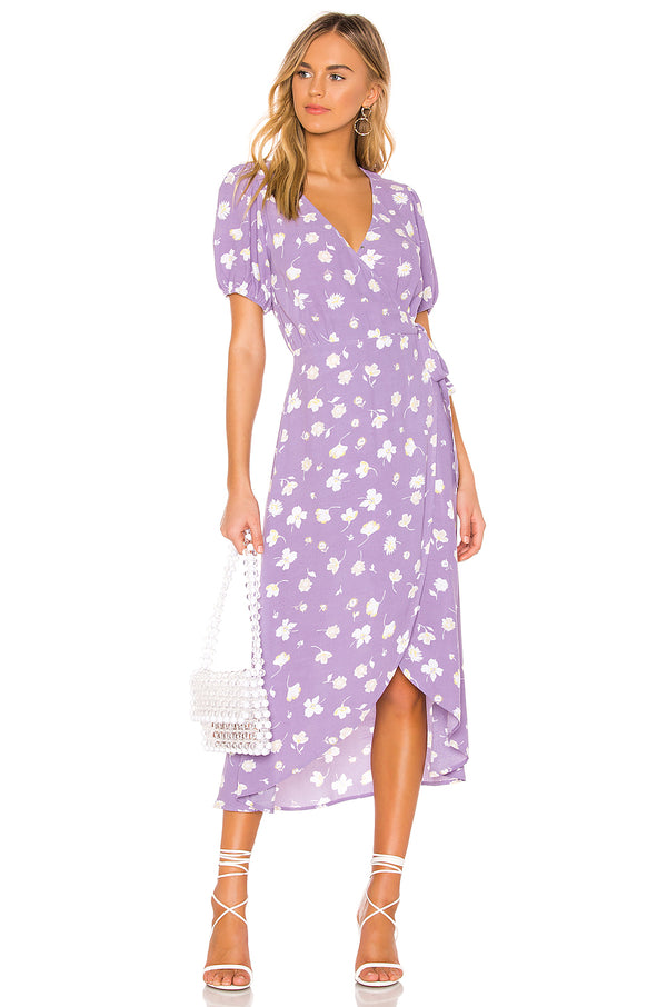 Sanctuary Purple Floral Meadow Wrap Dress