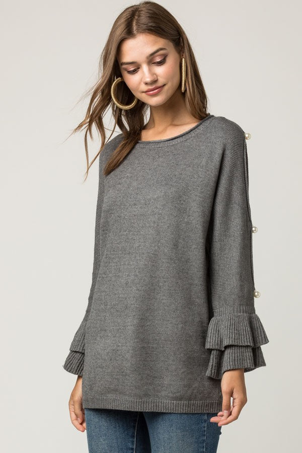 Sabrina Pearl Knit Sweater