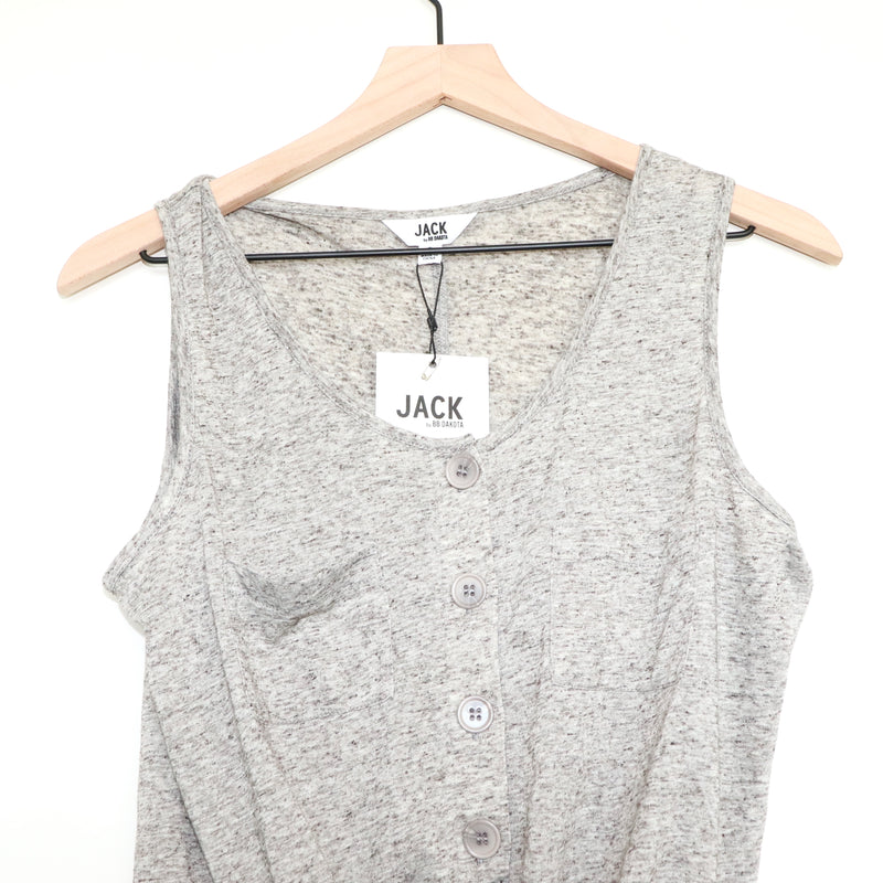 Jack by BB Dakota Tie Me Button Tank Top
