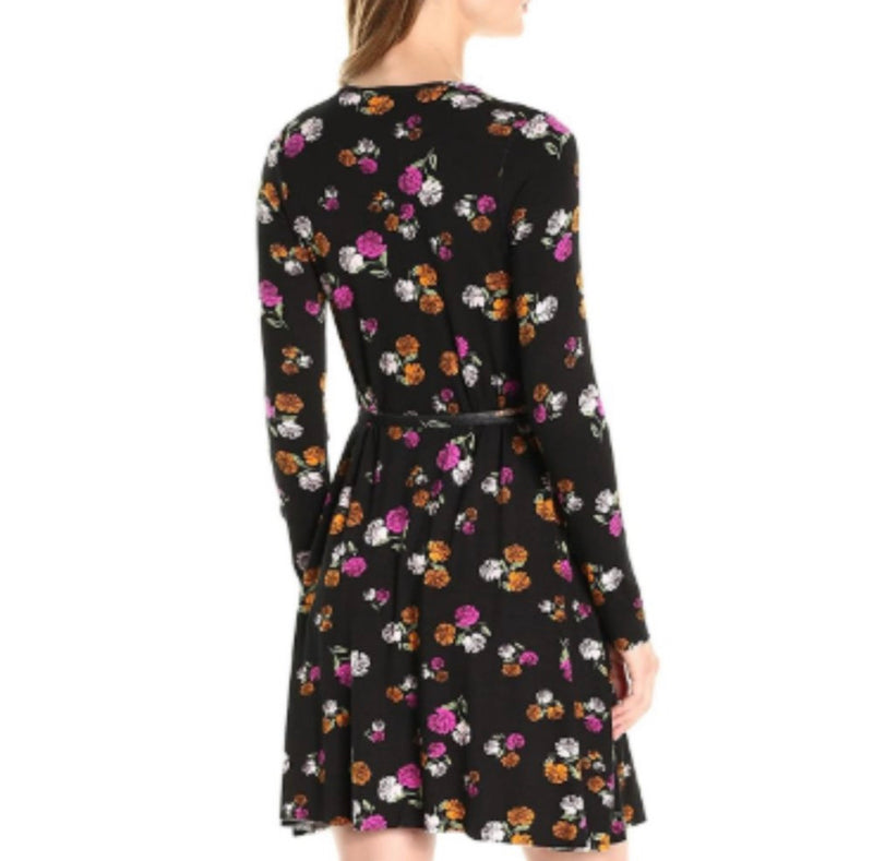 Clayton Janice Wrap Dress Dark Rosette