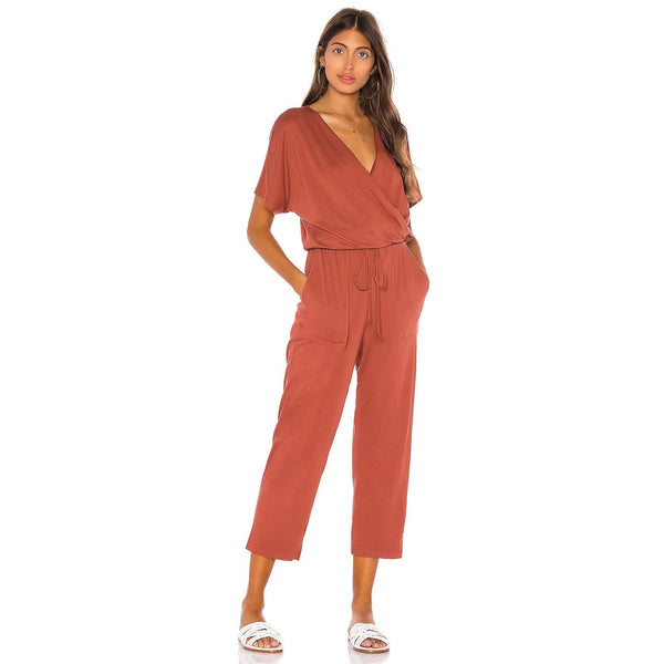 Michael Stars Chelan Surplice Neck Jumpsuit