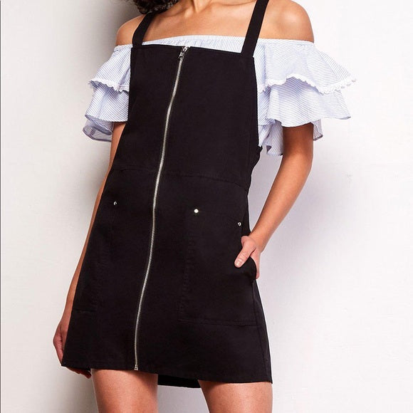 Jack by BB Dakota Black Overall Dress