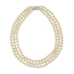 Jacqueline Kennedy Collection-Faux Pearl Triple Strand Necklace