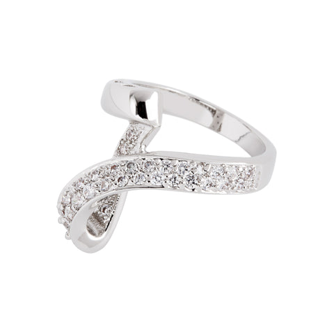 Jacqueline Kennedy Collection Crystal Loop Ring