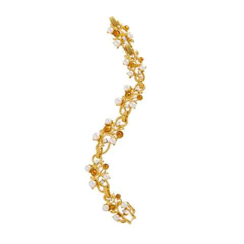 Jacqueline Kennedy Collection Topaz Vine Bracelet
