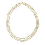 "Jacqueline Kennedy Collection 30"" Triple Pearl Necklace"