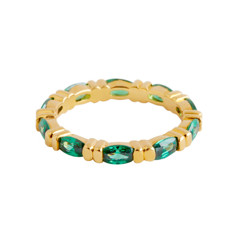 Jacqueline Kennedy Collection Faux Emerald Anniversary Ring
