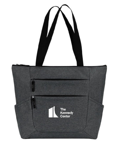 The Kennedy Center Zippered Tote Charcoal