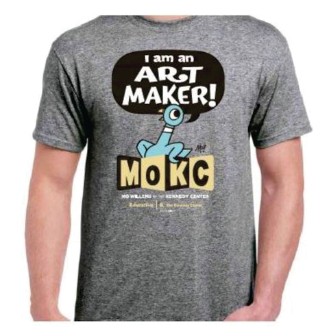 Mo Willems and Kennedy Center T-shirt - Grey