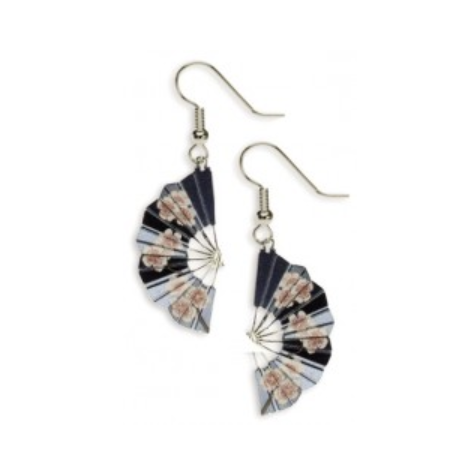 Cherry Blossom Fan Earrings