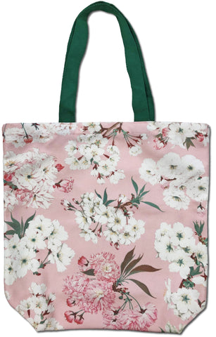 Cherry Blossom Canvas Tote Bag